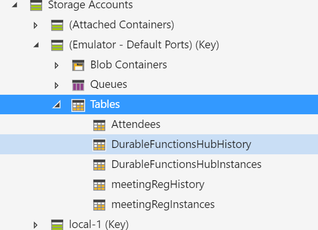 Storage Explorer met extended hubnames